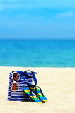Beach accessories. Concept of summer vacations Stock Photography
