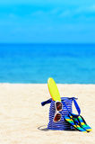 Beach accessories. Concept of summer vacations Royalty Free Stock Photography