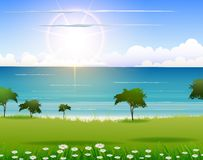 Nature beach background for you design Stock Image