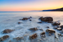 Nature beach beautiful composition sunset Royalty Free Stock Image