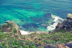 Nature beach sea landscape, blue water beach Beautiful Bay coastline. Nature beach sea landscape, blue water beach. Beautiful Bay coastline royalty free stock photos