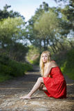 Nature beautiful girl Stock Images