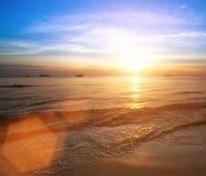 Nature. Beautiful sunset on coast sea. Travel. Beautiful sunset on coast sea. Travel Stock Images