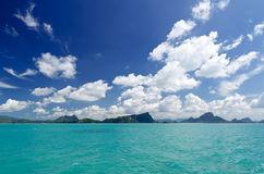 Beautiful tropical sea under the blue sky Stock Photography
