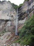 Nature. Beautiful waterfull in Georgia, Kinchha royalty free stock photography