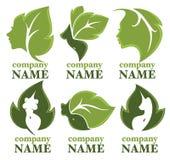 Nature beauty logo Royalty Free Stock Photos