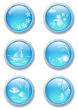 Nature blue buttons Royalty Free Stock Images