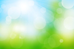 Nature blurred bokeh background. With sunlight stock illustration