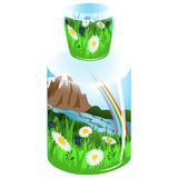 Nature in bottle Stock Image