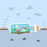 Nature in bottle Royalty Free Stock Images
