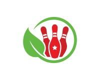 Nature Bowling Logo Template Design Vector, Emblem, Design Concept, Creative Symbol, Icon Royalty Free Stock Photo