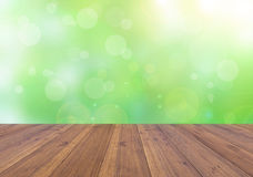 Nature bright spring with abstract background and wood floor Stock Images