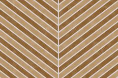 Nature brown chevron stripe pattern on paper textured background Royalty Free Stock Photography