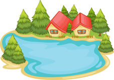 Nature cabins Royalty Free Stock Photo