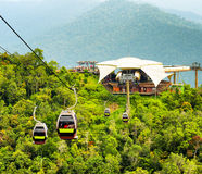 Cable car on Langkawi Island, Malaysia Stock Images