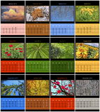 Nature calendar for 2015 Royalty Free Stock Images