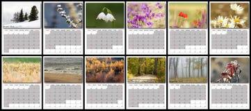 Nature calendar year 2016 Stock Photos