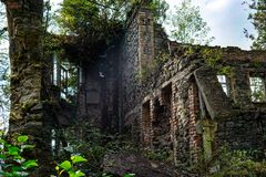 Nature captures the ruined house. House abandoned by people. Tkvarcheli. Nature captures the ruined house. House abandoned by people royalty free stock images