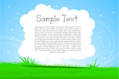 Nature card with sample text Royalty Free Stock Photo