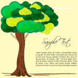 Nature card with tree Royalty Free Stock Photo