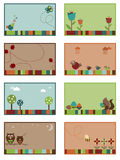 Nature cards. Nature themed cards/web banners with space for text