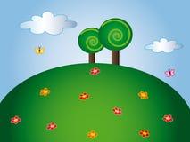 Nature cartoon Stock Photo