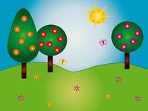 Nature cartoon stock illustration
