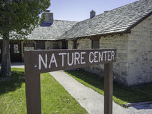 Nature Center Sign Royalty Free Stock Image