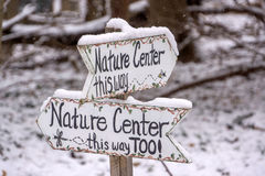 Nature Center Signs Stock Photo