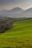 Nature in central Italy, beautiful views. Skies and meadows and above clouds Stock Photography