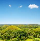 Chocolate hills on Bohol Island. Philippines Stock Images