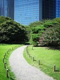 Nature in the city. Park in central Tokyo, Japan stock photo
