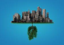 Nature and city balance Royalty Free Stock Photo