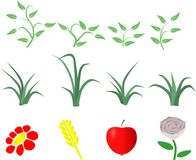Nature clipart set Royalty Free Stock Image