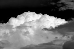 Nature cloud sky storm. Cloud in the blue sky in a growing dark storm Stock Photos