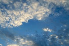 Blue sky cloud. Nature cloudscape with blue sky and white cloud Stock Photos