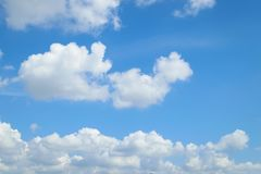 Blue sky cloud. Nature cloudscape with blue sky and white cloud Royalty Free Stock Photography