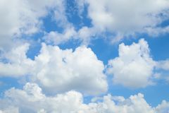 Blue sky cloud. Nature cloudscape with blue sky and white cloud Royalty Free Stock Photo