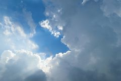 Blue sky cloud. Nature cloudscape with blue sky and white cloud Royalty Free Stock Photos