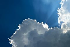 Blue sky cloud. Nature cloudscape with blue sky and white cloud Stock Photography