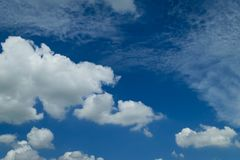 Blue sky cloud. Nature cloudscape with blue sky and white cloud Stock Image
