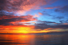 Nature color. In sunset time a sea and sky have different color @pattaya ,thailand Stock Photo