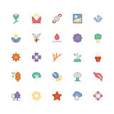 Nature Colored Vector Icons 4 Royalty Free Stock Photography