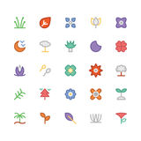 Nature Colored Vector Icons 9 Stock Images