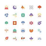 Nature Colored Vector Icons 7 Stock Photography