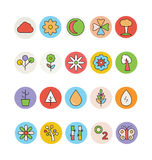 Nature Colored Vector Icons 3 Royalty Free Stock Photo
