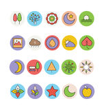 Nature Colored Vector Icons 1 Royalty Free Stock Image