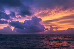 Nature composition of sunset at sea Stock Image