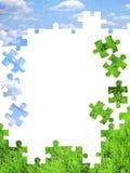 Nature concept - 3d puzzles Stock Images