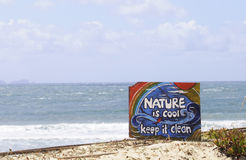 Nature is Cool. Keep it Clean. Stock Photos
